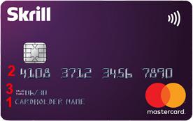Skrill card front side